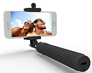 Selfie Stick, Kiwii Bluetooth Selfie Stick with built-in Remote Shutter with Adjustable Phone Holder for iPhone 6s 6 Plus, iPhone 5 5s 5c, Android