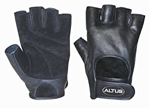 Altus Athletic Classic Leather Power Gloves (Small)