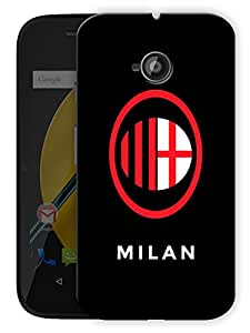 "Milan Love Printed Designer Mobile Back Cover For ""Motorola Moto E"" By Humor Gang (3D, Matte Finish, Premium Quality, Protective Snap On Slim Hard Phone Case, Multi Color)"