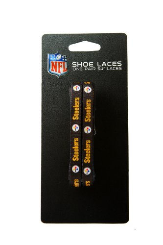 NFL Pittsburgh Steelers Black 54-Inch LaceUps Shoe Laces