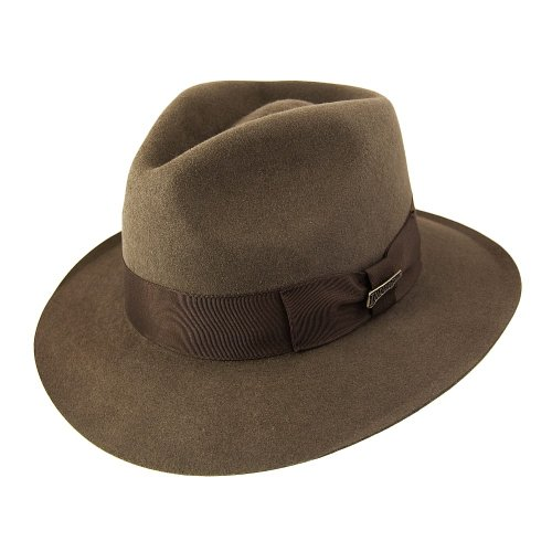 Indiana Jones Fur Felt Fedora Brown Large