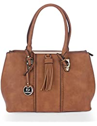 Handbags For Women By Fur Jaden, Wine Colour Branded Ladies Handbag Cum Shoulder Purse With Sling