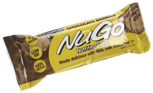 NuGo All-Natural Nutrition Bar, Chocolate Banana, 1.76-Ounce Bars (Pack of 15)