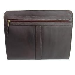 Piel Leather Three-Way Envelope Padfolio, Chocolate, One Size