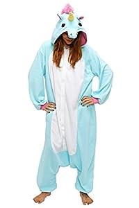Pour Homme Femme Adulte Unisexe Bleu Grand Queue Licorne Anime Animaux Halloween Noël Christmas Carnaval Cospaly Kigurumi Onesie Deguisement Pyjamas Pajamas Costume vêtements Siamois Romper de performance Outfit