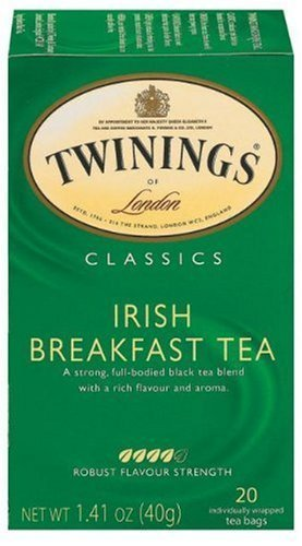 Twinings Irish Breakfast Tea, Tea Bags, 20-Count Boxes (Pack Of 2)