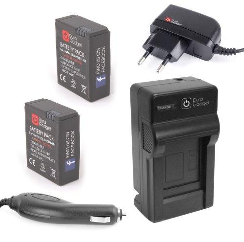 chargeurs de batteries duragadget chargeur 2 en 1 pour cam scope gopro 3 et gopro hero3 et hd3. Black Bedroom Furniture Sets. Home Design Ideas
