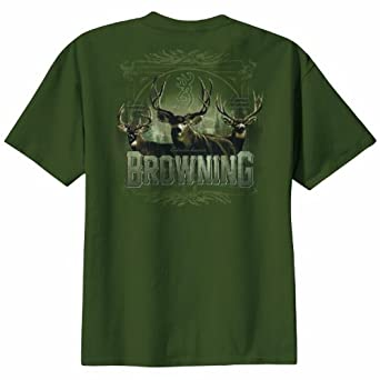 "Browning ""The Big Three"" Green Short Sleeved T-shirt (Small)"