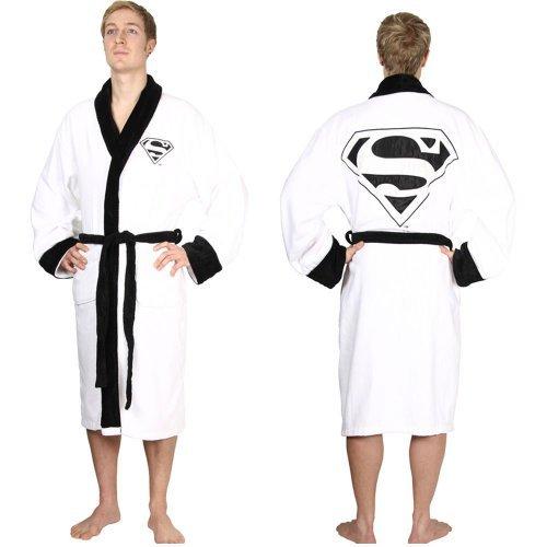 DC Comics - Superman - Towelling Bathrobe Adults - White