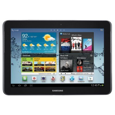 Samsung Galaxy Tab 2, 10.1-inch, Wi-fi -Titanium Silver- Part# GT-P5113TSSXAR/GT-P5113TSYXAR Bundled with Original Samsung Leather Pouch EFC-1B1LBECXAR