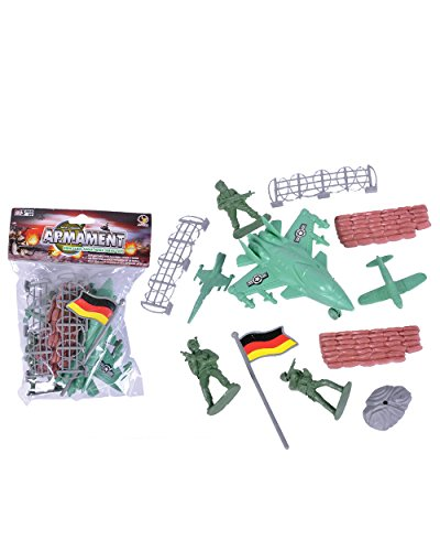 Miniature Toy Military Army Soldier Jet Play Set Mix Costume Accessory
