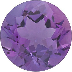 Round Shape Genuine Amethyst Loose Gemstone, Quality Grade, A 0.12 carats 3.25 mm