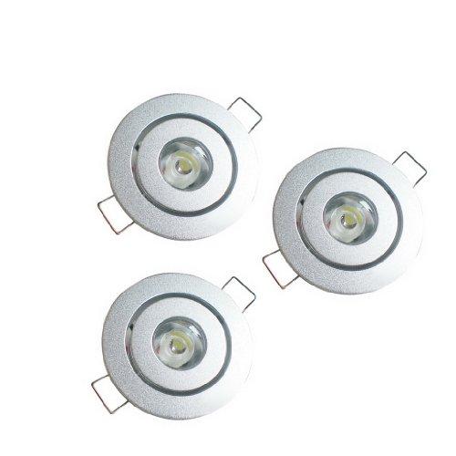 Dehang 3Pcs 1W White Led Ceiling Energy-Saving Light Downlight Spotlight Wall Cabinet Lamp Ac 110V 220V