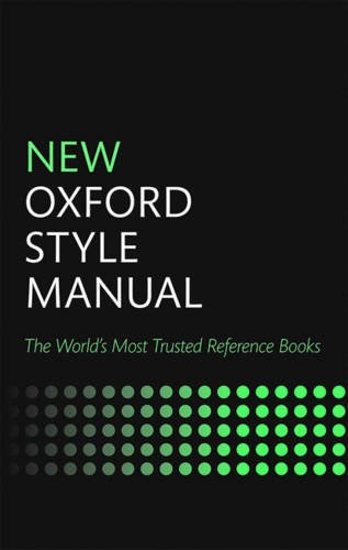 New Oxford Style Manual