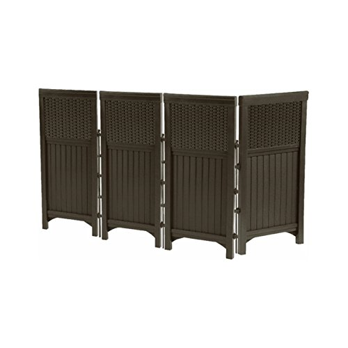 Suncast Outdoor Screen Enclosure Privacy Fence - Resin Wicker image