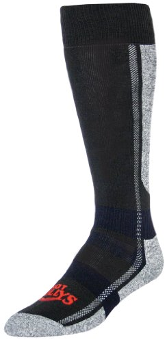 Hot Chillys Men's Hi Volume Sock (Black/Heather, Large)
