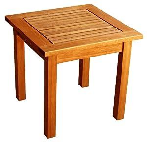 Luunguyen Side Table Hardwood Outdoor Furniture Natural