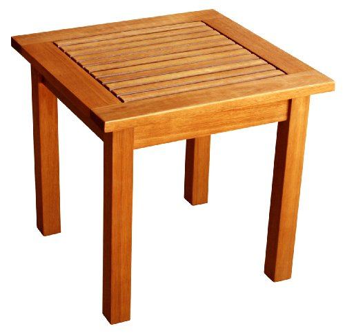 Luunguyen Outdoor Hardwood Side Table Natural Wood Finish