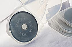 10 pack 60mm Rotary Blades for OLFA / Fiskars / TRUE CUT brand cutters - excellent quality, with plastic storage container