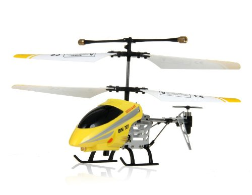 HC BN727 3-Channel RC Helicopter with Gyroscope and Light (Yellow)