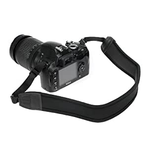 BIRUGEAR Black Anti-Slip Neoprene Camera shoulder/Neck Strap for Canon 70D 6D T6i T2i T5 T4i T5i SL1, Nikon P530 P520 L830 L820 D750 D5300 D5200 D3300 D3200 D5100 and Sony Olympus Panasonic SLR Camera
