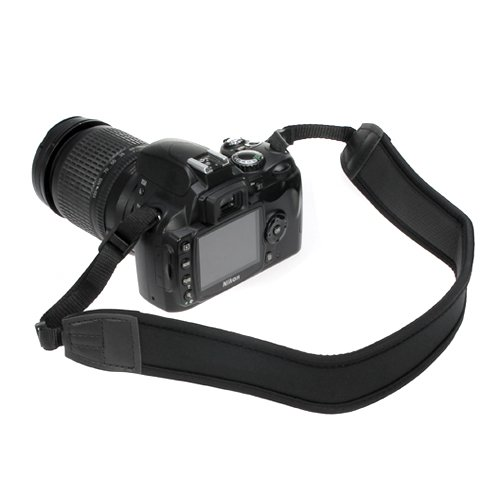 BIRUGEAR Black Anti-Slip DSLR Camera Neoprene Neck/Shoulder Strap for Canon, Nikon, Sony, Panasonic, FujiFilm, Olympus and more Digital SLR Camera (A7 Mark Ii Case Black compare prices)