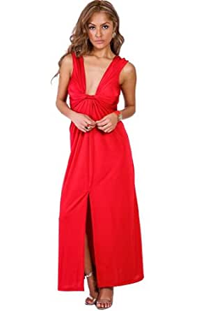 Amazon.com: Wenjle Women's Front Knot Deep V Formal ... - photo #35