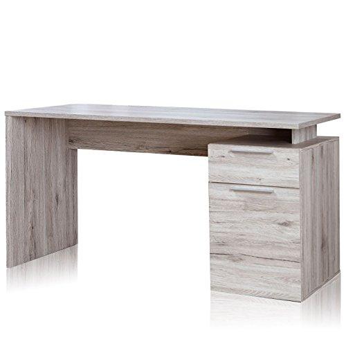ROLLER-Schreibtisch-NET-Sandeiche-140-cm-breit