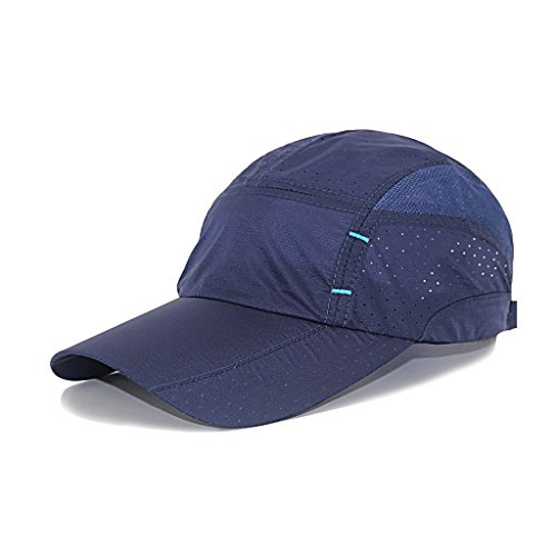 lethmik Sport Cap Summer Quick-drying Sun Hat Unisex UV Protection Outdoor Cap Navy Blue (Uv Protection Hat compare prices)