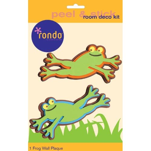 Rondo 4654E Baby and Kids Room Wall Decoration stickers 3 D Foam Frog 2 Pieces