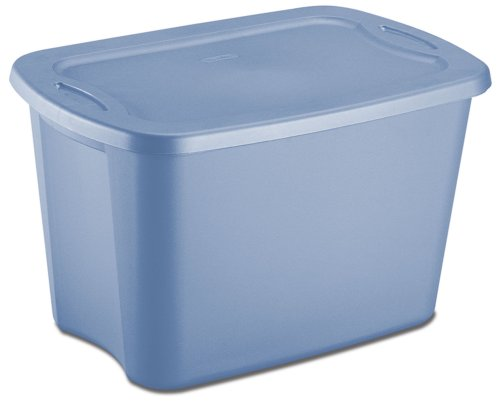 Sterilite 18201009 10-Gallon Tote Box Lapis, 9-Pack