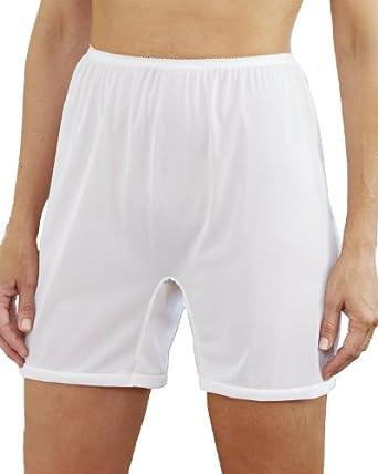 National Long Leg Nylon Tricot Panty, White, 6, 6-pk