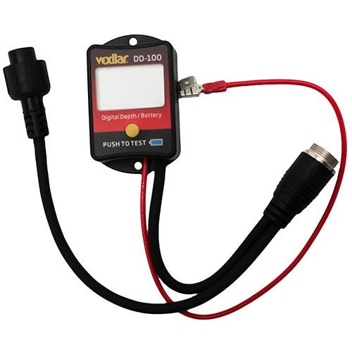 Vexilar dd 100 digital depth and battery gauge for Ice fishing battery box