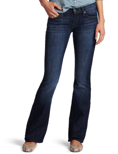7 For All Mankind Women's Petite Bootcut Short Inseam Jean, Nouveau New York Dark, 27