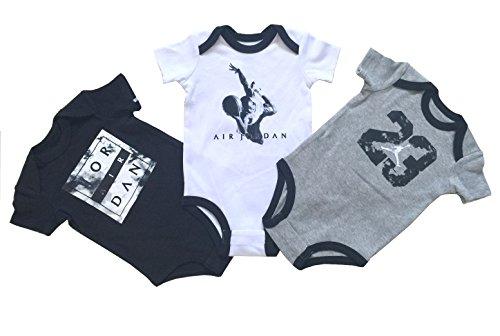 Nike Jordan Infant New Born Baby Bodysuit 3 Pcs Layette Set