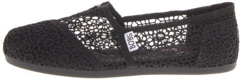Bobs From Skechers Women S Plush Pearlized Crochet Flat