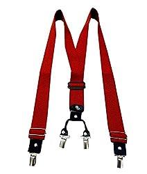 Navaksha Red Adjustable Suspender