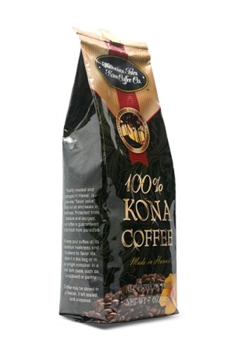 Hawaiian Isles Coffee 100% Pure Kona Ground 7 Oz. Bag front-623224