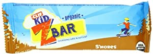 Clif Kid Organic ZBar, S'mores,  1.27 oz. Bars, 18 Count