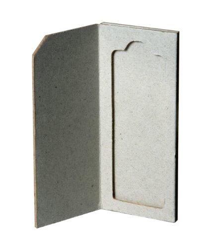"Biologix Research 41-4001 Cardboard Single Place Microscope Slide Mailer/Holder For 3"" X 1"" Slides (Pack Of 100)"
