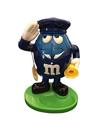M&M Word Character Candy Dispenser Red Fireman /Blue Policeman (11