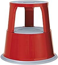Wedo 212102 - Taburete con ruedas de metal, rojo
