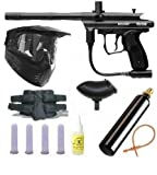Spyder Victor Paintball Gun 4+1 9oz MEGA Set - Black