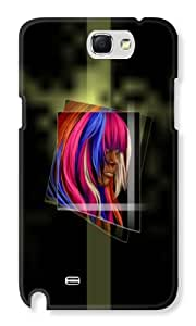 KolorEdge Back cover for Samsung Galaxy Note 2 - Multicolor