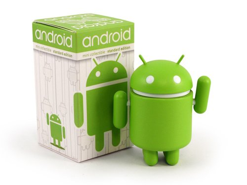Dyzplastic Android Mini Collectible Figure, Standard Green - 1