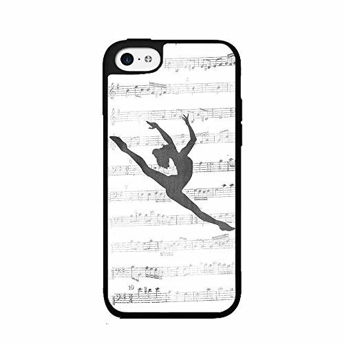 Dancer on Music Notes TPU RUBBER SILICONE Phone Case Back Cover iPhone 5 5s