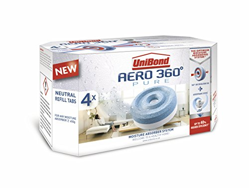 Unibond 2106199aero 360umidità Absorber Ricariche, colore: bianco (Confezione da 4)