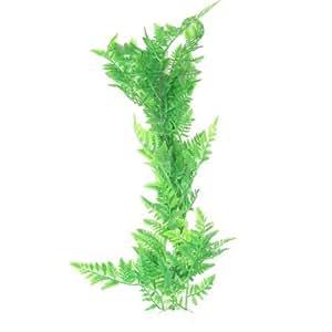 Manmade 21.7High Green Plastic Grass for Aquarium Decoration