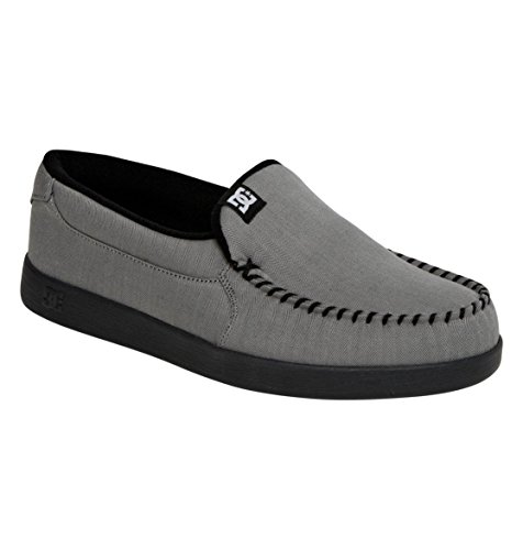 DC Men's Villain TX Slip-On Sneaker,Grey/Grey/Black,8 M US