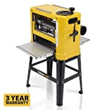Powerplus 1800w Planer Thicknesser with Stand POWX2